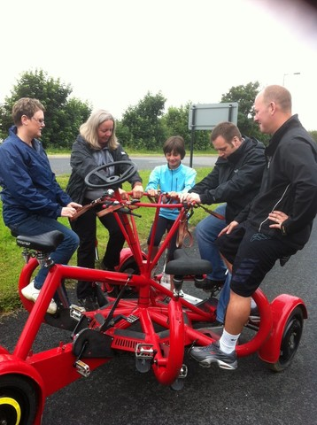 Our first test of the seven seater circular bike was a twenty five minute ride around York