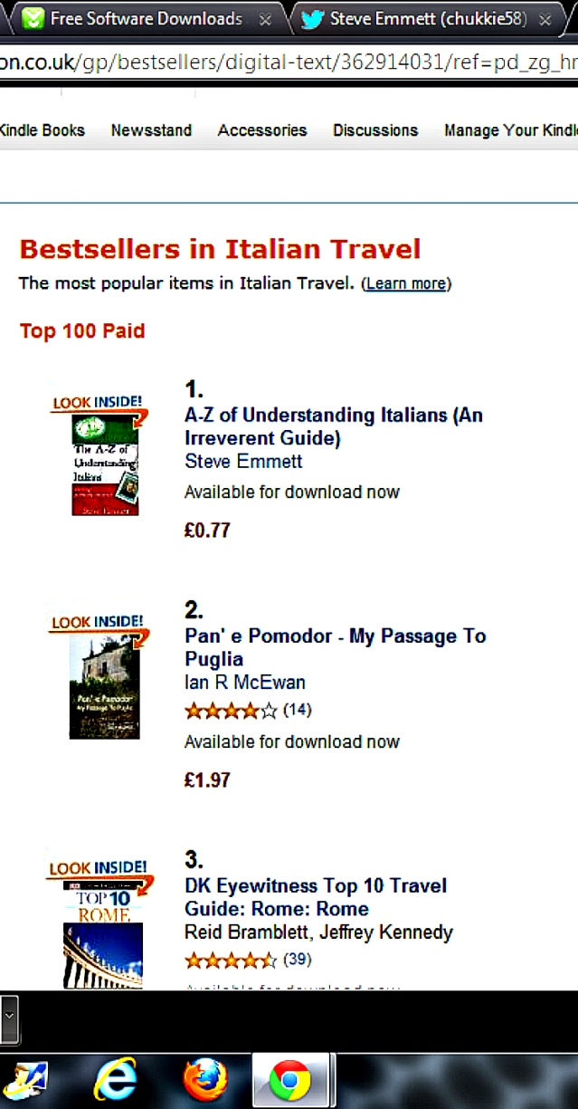 In less than 24hrs - No1 bestseller in category on Amazon UK
